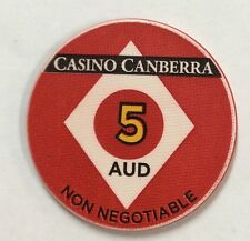 $5 Casino Canberra - Casino Chip - non negotiable