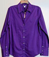 NWT Calvin Klein Purple Long Sleeve Button Down Career Shirt Size L