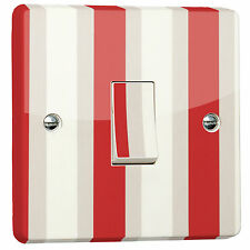 Red Stripe Light Switch Sticker skin for Crabtree 4070 Single Switch Fitting
