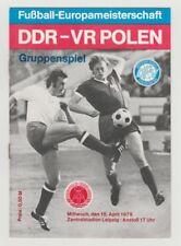 Orig.PRG     EM Qualifikation  18.04.1979   DDR - POLEN  !!  SEHR SELTEN