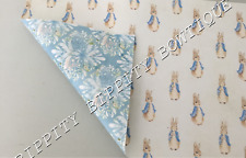 """DOUBLE SIDED """"PETER RABBIT""""(2)  PRINTED FABRIC SHEET..HAIR BOWS..EXCLUSIVE TO US"""