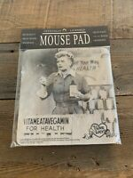 I Love Lucy Vitameatavegamin Computer Mouse Pad *Retired* NEW
