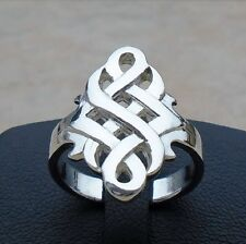 925 Sterling Silver Celtic Eternity Infinity Unisex Ring Size 10 Band Hallma New