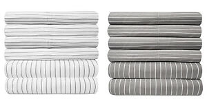 Loft Collection 6 Piece Sheet Set 1500 Thread Count Pinstripe