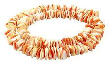 😏 Rote Kegelfechterschnecke quadratische Heishi Perlen ~ 8 mm Muschelperlen 😉