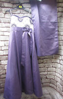ROMAN LILAC & WHITE SPECIAL OCCASION DRESS WITH WRAP SIZE 14-full length