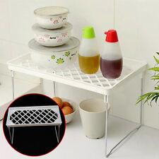 Foldable Stacking Storage Shelf Rack Organizer Holder Kitchen Bathroom Desk Hot