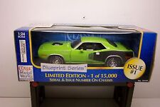 "1971 PLYMOUTH HEMI ""CUDA"" DIECAST IN BOX NEAR MINT"