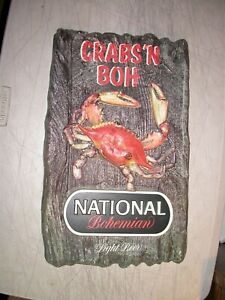 Crabs 'N Boh Sign National Bohemian Light Beer Carling National Breweries