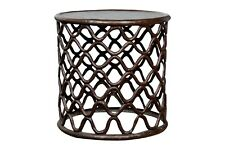 New listing Bronze Fretwork Side Table in the Style of an African Cameroon Stool