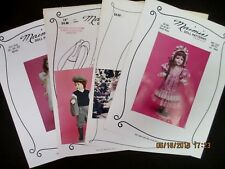 Select from MAIMIE DOLL PATTERNS Sewing Clothes/Dresses/etc.