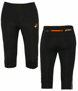 Asics Womens Adrenaline Knee Tight Training Gym Leggings Black 114538 0506 A11D