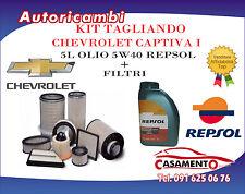 KIT TAGLIANDO 4 FILTRI + 5L OLIO REPSOL 5W40 CHEVROLET CAPTIVA I 2.0 CDTI