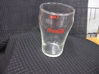 Vintage  Small Clear Coca-Cola Glass Red Logo 4 Inches Tall