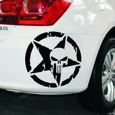 Punisher Star Skull Pentagram Car Sticker Vinyl Decal Truck Window Black New