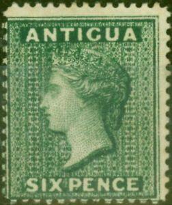 Antigua 1884 6d Deep Green SG29 Fine & Fresh Mtd Mint