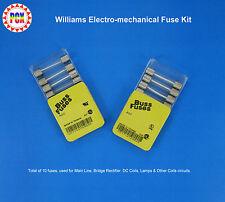1977 Williams Hot Tip Pinball Machine Fuse Kit - Electro-Mechanical (10 fuses)