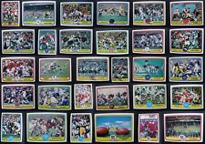 1981 Fleer Team Action Football Cards Complete Your Set You Pick From List 1-88