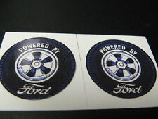 "1-3/8"" PR POWERED BY FORD VINYL PEEL-N-STICK DECAL RAT RACING TOY HOT ROD PARTS"