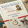 Personalised Vintage Alice in Wonderland Wedding Invitation *SAMPLE Ivory