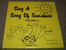 Sing A Song Of Sunshine Volume II More New Songs & Games For Young Children
