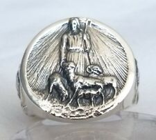 Catholic Christianity Bischof RING Jesus our Shepherd 925 SILVER