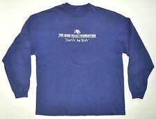 """The Gabe Velez Foundation """"Courts For Kids"""" Blue Long Sleeve Shirt Large"""