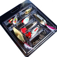 High quality Metal Fishing Lures set durable kit colors Bright Hooks Tackle
