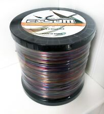 EXSUM Nylon Monofilament Fishing Line Super Soft Strong 80LB 2LB - Rainbow Camo