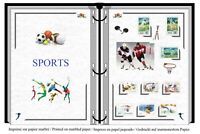 Stamps album to print  ALL SPORTS  + soccer + tennis + basketball + golf + judo