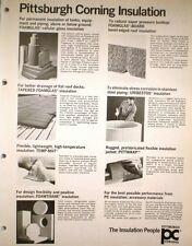 Pittsburgh Corning UNIBESTOS Insulation ASBESTOS Ad '71