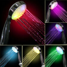 Colorful Changing LED Lights Romantic Automatic Handy Bath Shower Head Sprinkler