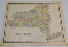 1826 Antique COLOR Map//NEW YORK