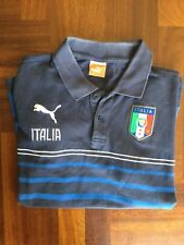 Maglia italia figc puma polo shirt trikot jersey maillot camisa size M