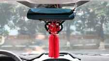 A Set Black Kin Rope & Red Chinese Knot For Car Rearview Mirror Charms Vip Gift