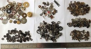 Washer Collection Mostly Steel from Clockmakers Spare Parts Chest Ref 10