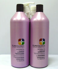 Pureology Hydrate Shampoo & Conditioner 33.8 oz Liter Set SEALED Lids w PUMPS