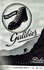 ANCIENNE PUBLICITE 1950  CHAUSSURES ESCALADE GALIBIER    AD pub