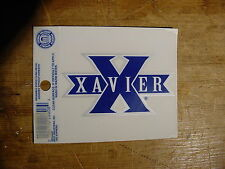 """OFFICIAL RICO IND. XAVIER UNIVERSITY BLUE """"X"""" DECAL STICKER REMOVABLE REUSABLE"""