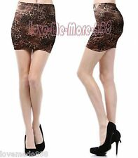 Womens Casual Club Celebrity TIGHT FITTED SLIM Leopard Mini Skirts Dress LARGE