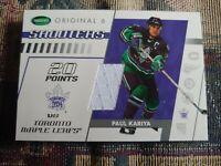 2003-04 Parkhurst Original Six Paul Kariya Shooters TM-49 jersey Maple Leafs