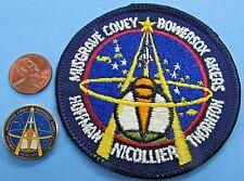 "NASA 3"" PATCH & PIN PAIR vtg Space Shuttle ENDEAVOUR STS-61 HUBBLE telescope"