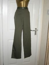 """12 OLIVE GREEN TROUSER CHINO STYLE JEANS COOL COTTON STRETCH SUMMER HOLS 29"""" LEG"""