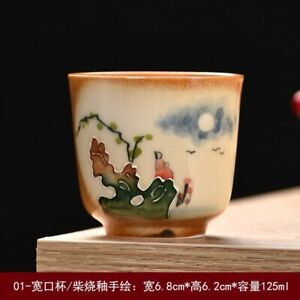 Kiln Baked Chinese Style Multicolor Ceramic Kung Fu Handmade Paint Master Teacup