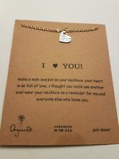 """Dogeared I LOVE YOU Necklace Charms Gold Dipped 16"""" chain UK SELLER"""
