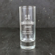 Personalised Birthday Shot Glass Gift Idea For Him Mens Son 18th 21st 30th 40th