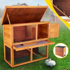 "Wood Wooden Rabbit Hutch Chicken Coop Hen House Poultry Pet Cage 36"" Waterproof"