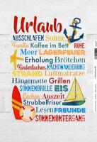 Urlaub by Anne Svea Blechschild Schild gewölbt Metal Tin Sign 20 x 30 cm
