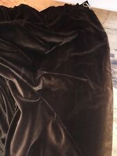 "PRELOVED DEEP LUSH COTTON BROWN VELVET LINED ESTATE DRAPES 90""W X 58""L"
