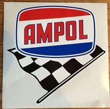 Ampol with chequred flag vinyl sticker for petrol bowser Gilbarco CM or Bullseye